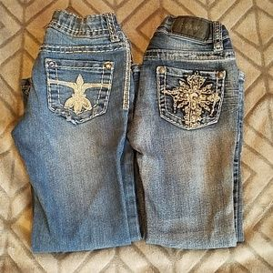 Zco and Cherokee girls size 5 flare jeans